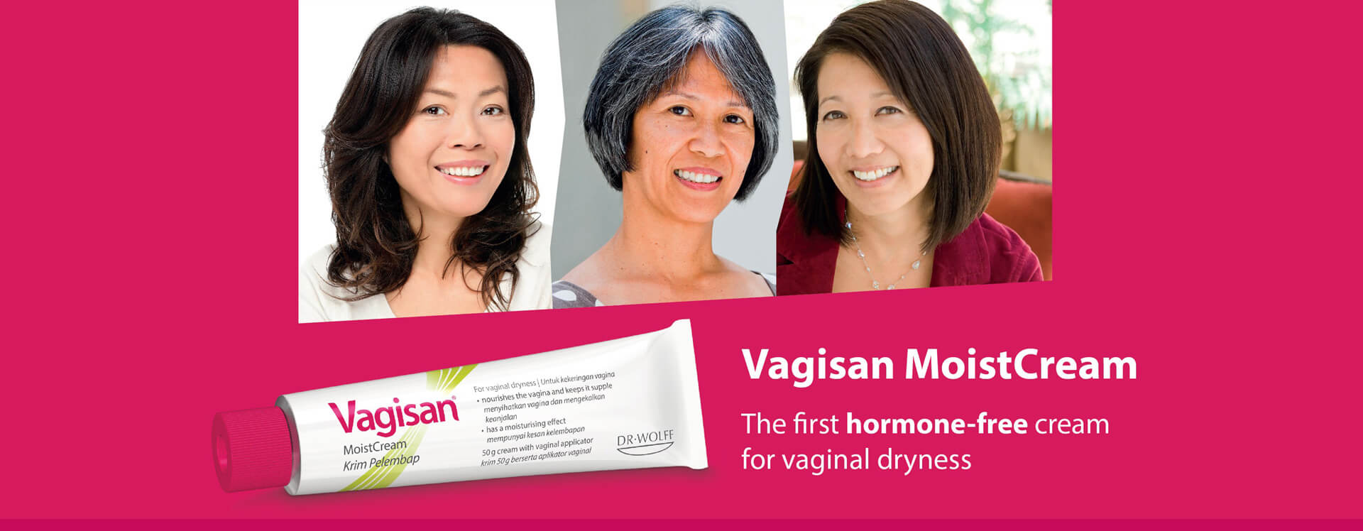 The first hormone-free cream for vaginal dryness